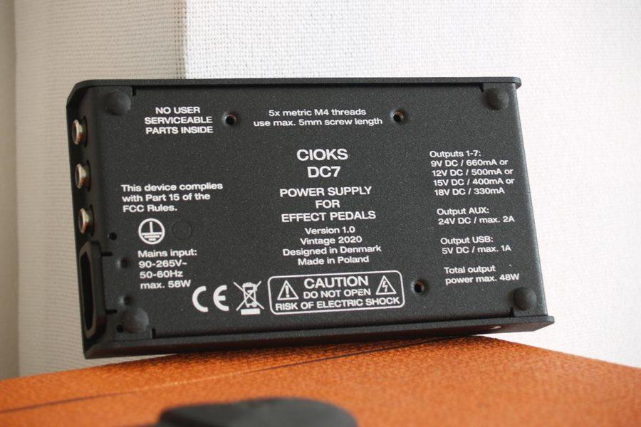 alimentation pour pédales d'effet guitare Cioks DC7